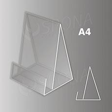 Reklamní stojánek na prospekty Gamma A4, akrylát