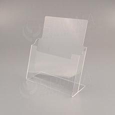 Reklamní stojánek na prospekty PROMO A4, stolní, akrylát
