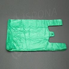 Taška HDPE, nosnost 10 kg, zelená, 30 + 16 x 50 cm, 100 ks
