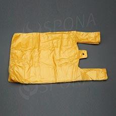 Taška HDPE, nosnost 10 kg, žlutá, 30 + 16 x 50 cm, 100 ks