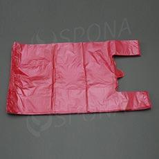 Taška HDPE, nosnost 12 kg, červená, 33 + 16 x 60 cm, 100 ks