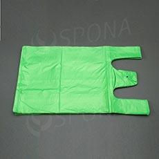 Taška HDPE, nosnost 12 kg, zelená, 33 + 16 x 60 cm, 100 ks