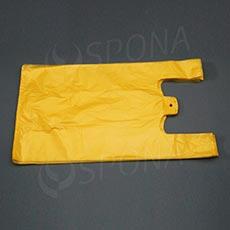 Taška HDPE, nosnost 12 kg, žlutá, 33 + 16 x 60 cm, 100 ks