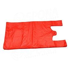 Mikrotenová taška HDPE, nosnost 4 kg, 25 + 2x6x45cm, červená, 100 ks