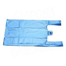 Mikrotenová taška HDPE, nosnost 4 kg, 25 + 2x6x45cm, modrá, 100 ks