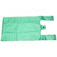 Mikrotenová taška HDPE, nosnost 4 kg, 25 + 2x6x45cm, zelená, 100 ks
