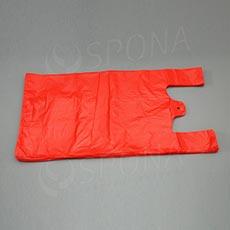 Taška HDPE, nosnost 15 kg, červená, 33 + 20 x 69 cm, 100 ks