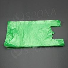 Taška HDPE, nosnost 15 kg, zelená, 33 + 20 x 69 cm, 100 ks
