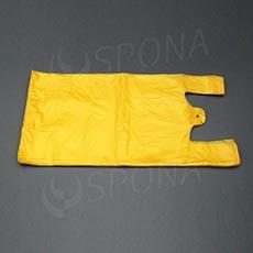 Taška HDPE, nosnost 15 kg, žlutá, 33 + 20 x 69 cm, 100 ks