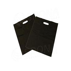 Igelitová taška LDPE 20 x 30 + 5 cm, černá