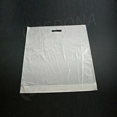 Igelitová taška LDPE 55x60+5 cm s recyklátem, bílá