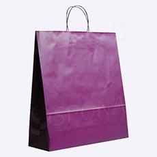 Taška papírová PASTELO, 45 x 15 x 49 cm, fialová