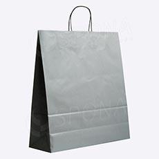 Taška papírová PASTELO, 45 x 15 x 49 cm, šedá