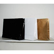 Taška papírová LAMINO 54x16x43 cm, bílá lesklá