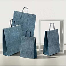 Taška papírová JEANS, 45+15x49 cm