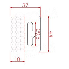 HANG háček BEST na EURO závěsy, 44 x 37 mm, 1.000 ks