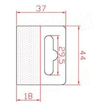 HANG háček BEST na EURO závěsy, 44 x 37 mm