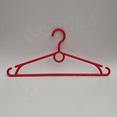 Plastová ramínka, šířka 40 cm, s otočným hákem, červená