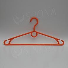 Plastová ramínka, šířka 40 cm, s otočným hákem, oranžová