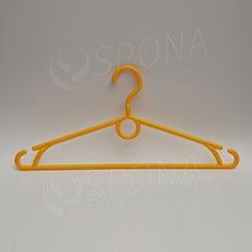 Plastová ramínka, šířka 40 cm, s otočným hákem, žlutá