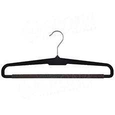 Plastová kalhotová ramínka, HB 37 molitan, černá