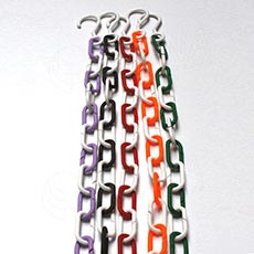 Řetěz s háčkem plast, délka 1 metr, LN+H