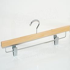 Ramínko dřevěné BT kalhotové, příčka se skřipci, 34 cm