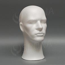Hlava pánská PHILL polystyren, bílá
