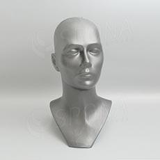 Hlava DITA plastová, stříbrná