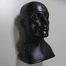 Hlava pánská ALEX, černý plast