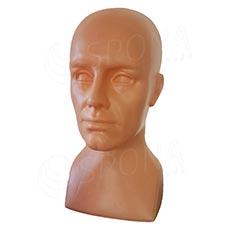 Hlava ALEX plastová, barva tělová