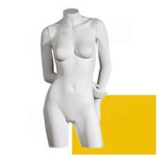 Bysta COLOR dámská, typ 4, žlutá