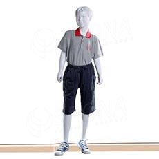 Figurína dětská AF 03, chlapec 145 cm, matná bílá