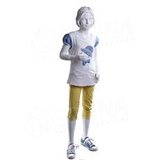 Figurína dětská AF 04, dívka 145 cm, matná bílá