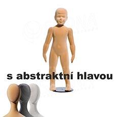 Figurína dětská FLEXIBLE 3 - 4 roky, abstrakt, tělová, flok, bez podstavce