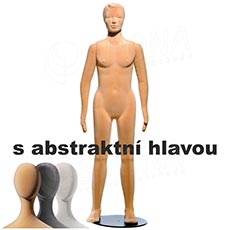 Figurína dětská FLEXIBLE 13 let, dívka, abstrakt, tělová, flok, bez podstavce