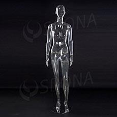 Figurína dámská transparentní EKO 01, polykarbonát