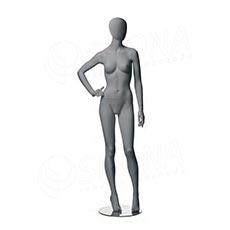 Figurína dámská CITY 03, matná šedá