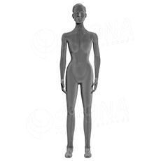 Figurína dámská FLEXIBLE, prolis, šedá, flokovaná