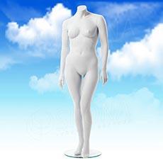Figurína dámská XXL, matná bílá, bez hlavy