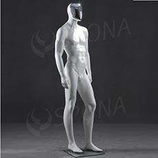 Figurína pánská CHROM 300, bílá matná, maska chrom