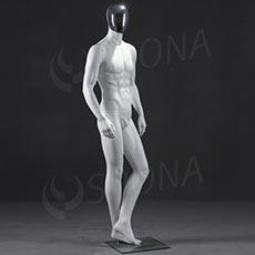 Figurína pánská CHROM 301, bílá matná, maska chrom
