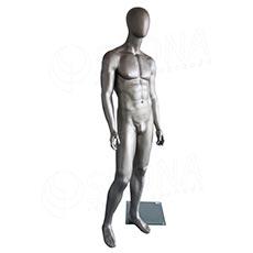 Figurína pánská Portobelle 308, matná stříbrná