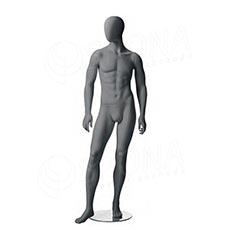 Figurína pánská CITY 03, matná šedá