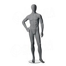 Figurína pánská CITY 04, matná šedá