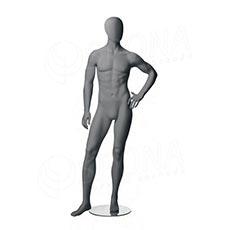 Figurína pánská CITY 05, matná šedá