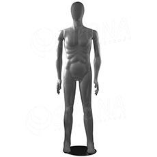 Figurína pánská FLEXIBLE, abstrakt, šedá, plast