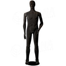 Figurína pánská FLEXIBLE, prolis, černá, flokovaná