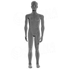 Figurína pánská FLEXIBLE, prolis, šedá, flokovaná