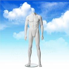Figurína pánská MARVIN 01, matná bílá, bez hlavy